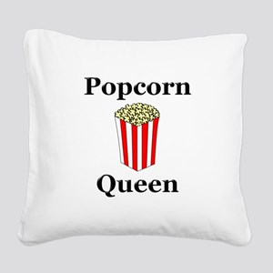 Popcorn Queen Square Canvas Pillow