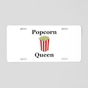 Popcorn Queen Aluminum License Plate