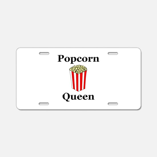 Popcorn Queen Aluminum License Plate