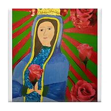 Deborah Rosales - Guadalupe and Roses Tile Coaster