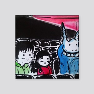 "Donnie Darko - Cinema Scene Square Sticker 3"" x 3"""