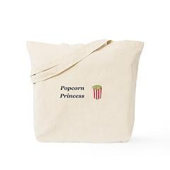 Popcorn Princess Tote Bag
