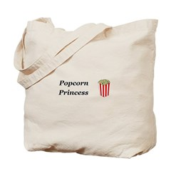 Popcorn Princess Tote Bag