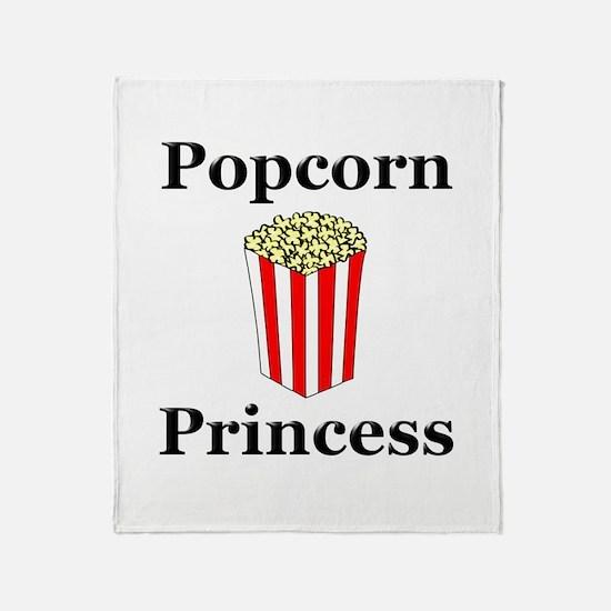 Popcorn Princess Throw Blanket