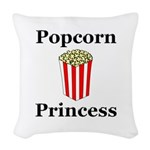 Popcorn Princess Woven Throw Pillow