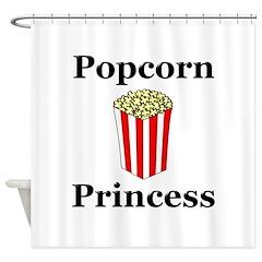 Popcorn Princess Shower Curtain