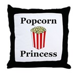 Popcorn Princess Throw Pillow