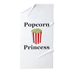 Popcorn Princess Beach Towel