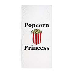 Popcorn Princess Beach Towel