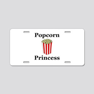 Popcorn Princess Aluminum License Plate