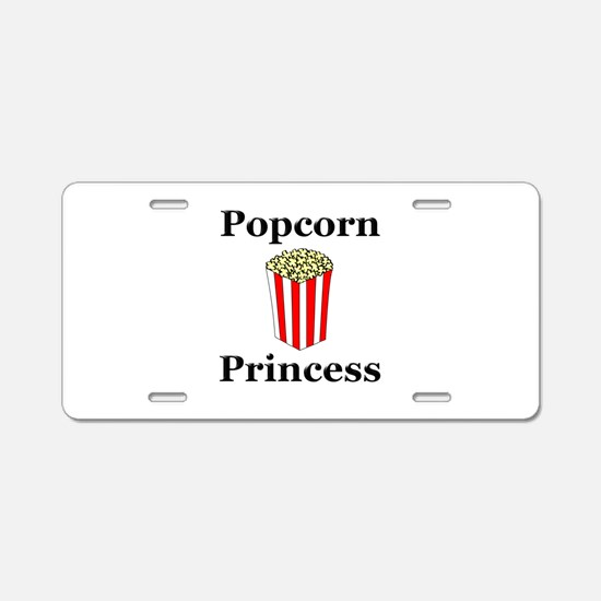 Popcorn Princess Aluminum License Plate