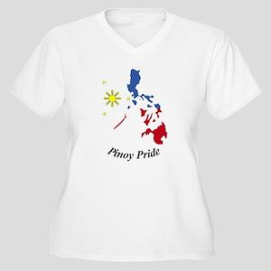 Pinoy Pride Map Women's Plus Size V-Neck T-Shirt