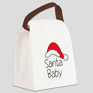 Santa Baby Canvas Lunch Bag