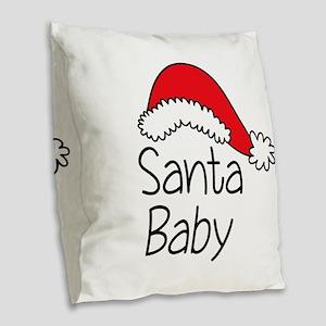Santa Baby Burlap Throw Pillow