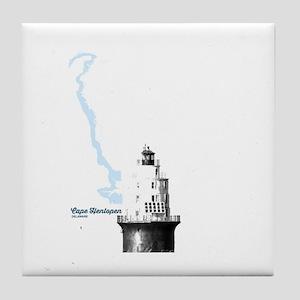 Cape Henlopen - Lighthouse. Tile Coaster