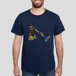 Dachshund Curling Dark T-Shirt