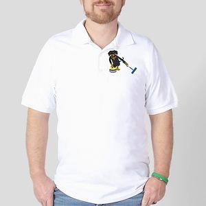 Dachshund Curling Golf Shirt
