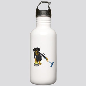Dachshund Curling Stainless Water Bottle 1.0L