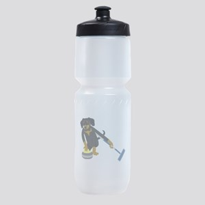 Dachshund Curling Sports Bottle
