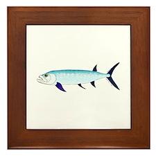 Xiphactinus audax fish Framed Tile