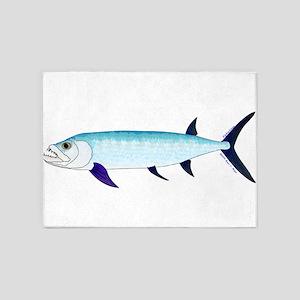 Xiphactinus audax fish 5'x7'Area Rug