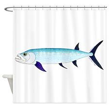 Xiphactinus audax fish Shower Curtain