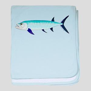 Xiphactinus audax fish baby blanket