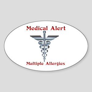 Multiple Allergies Medical Alert Sticker