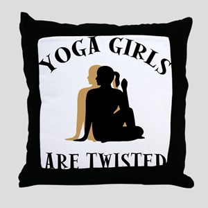 yoga124light Throw Pillow