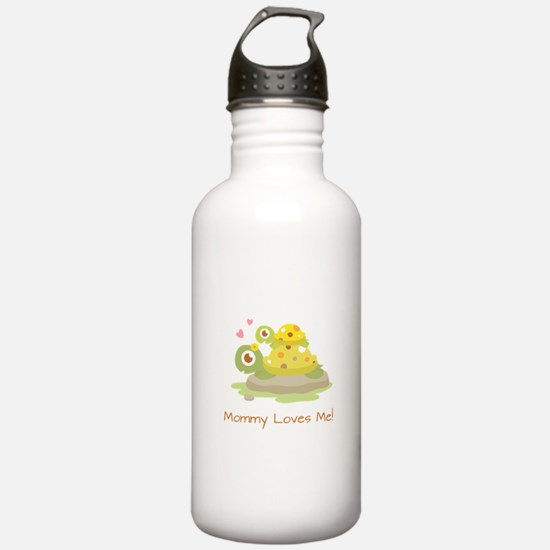 Cute Turtle Mommy and Child Water Bottle