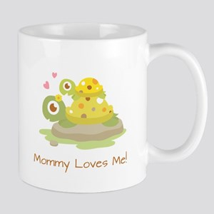 Cute Turtle Mommy and Child Mugs
