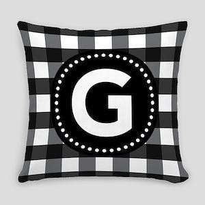 Letter G Monogram Gingham Master Pillow