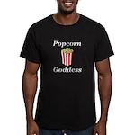 Popcorn Goddess Men's Fitted T-Shirt (dark)