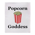 Popcorn Goddess Throw Blanket