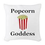 Popcorn Goddess Woven Throw Pillow