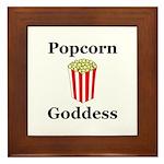 Popcorn Goddess Framed Tile
