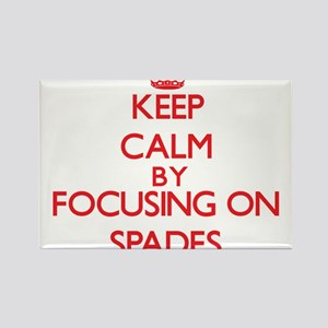 Keep Calm by focusing on Spades Magnets