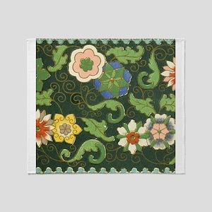 Chinese Pattern Vintage Pattern Cloisonne Throw Bl