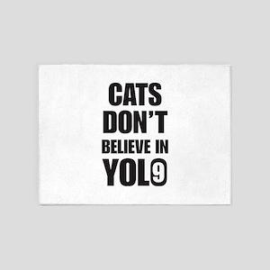 Cats Yolo 5'x7'Area Rug