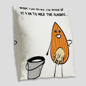 Vegan Milk Burlap Throw Pillow