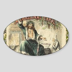 Vintage Scrooge Ghost of Christmas Present Sticker
