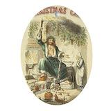 A christmas carol Oval Ornaments