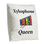 Xylophone Queen Burlap Throw Pillow