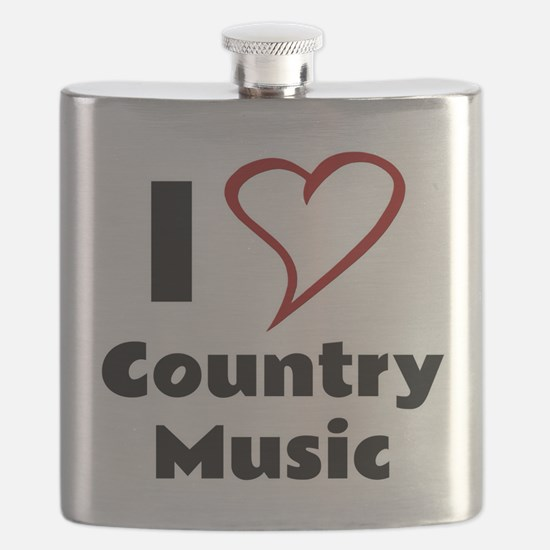 I Love Country Music Flask