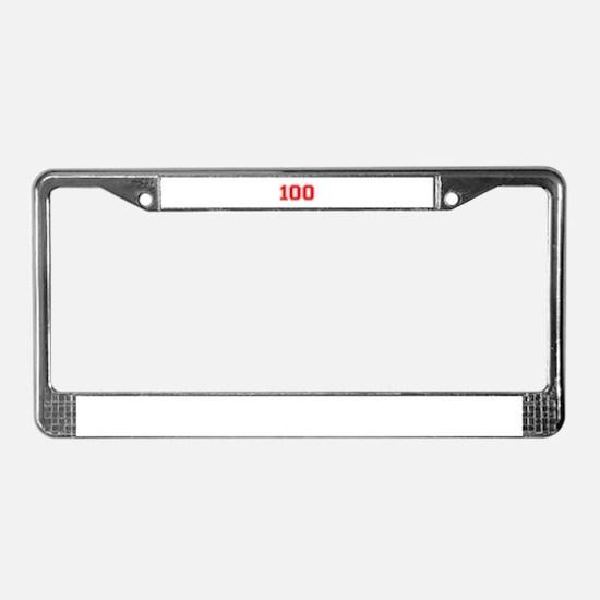100 License Plate Frame
