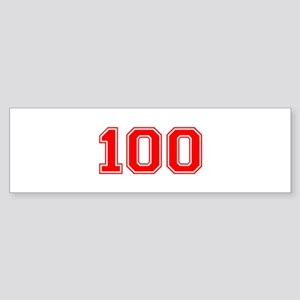 100 Bumper Sticker