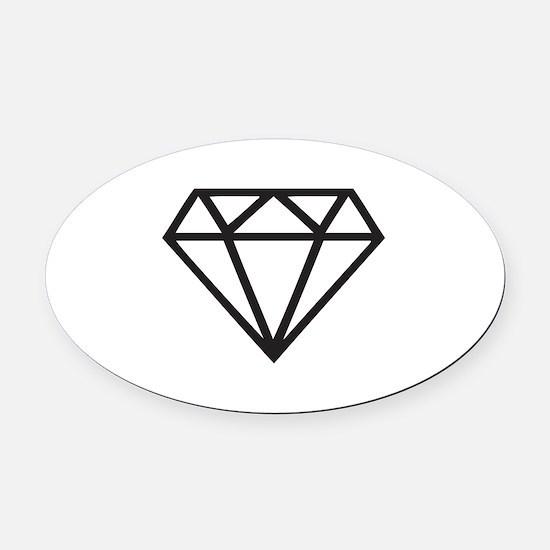 Diamond Oval Car Magnet