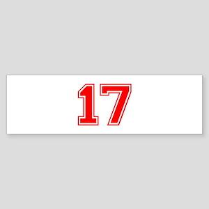 17 Bumper Sticker
