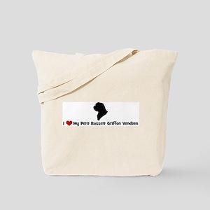 I Love My Petit Bassett Griff Tote Bag