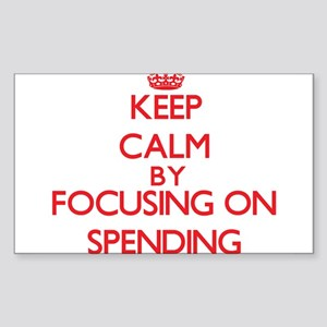 Keep Calm by focusing on Spending Sticker